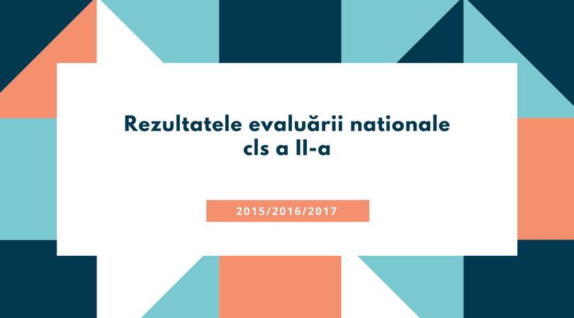 Rezultate evaluare nationala cls II