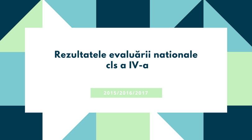 Rezultate evaluare nationala cls IV