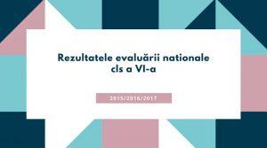 Rezultatele evaluării Naţionale cls a VI-a