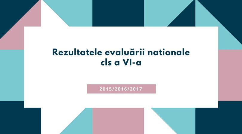 Rezultate evaluare nationala cls VI