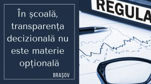 Doar 30% dintre şcolile gimnaziale din Braşov au afişat regulamentul şcolii pe site