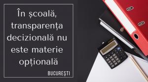Doar 4% dintre şcolile gimnaziale din Bucureşti au componența consiliului de administrație pe site
