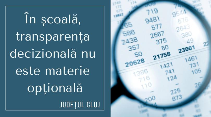 Sub 4% dintre liceele din județul Cluj își publică bugetul pe site