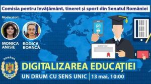 """Read more about the article Dezbatere cu tema """"Digitalizarea Educației – un drum cu sens unic"""""""