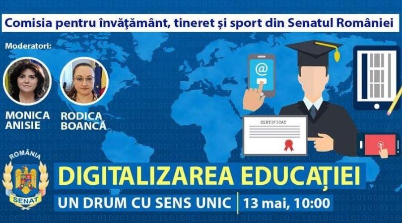 "You are currently viewing Dezbatere cu tema ""Digitalizarea Educației – un drum cu sens unic"""
